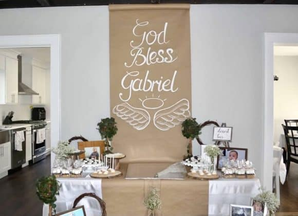 How to Throw a Simple & Sophisticated Rustic Communion Party