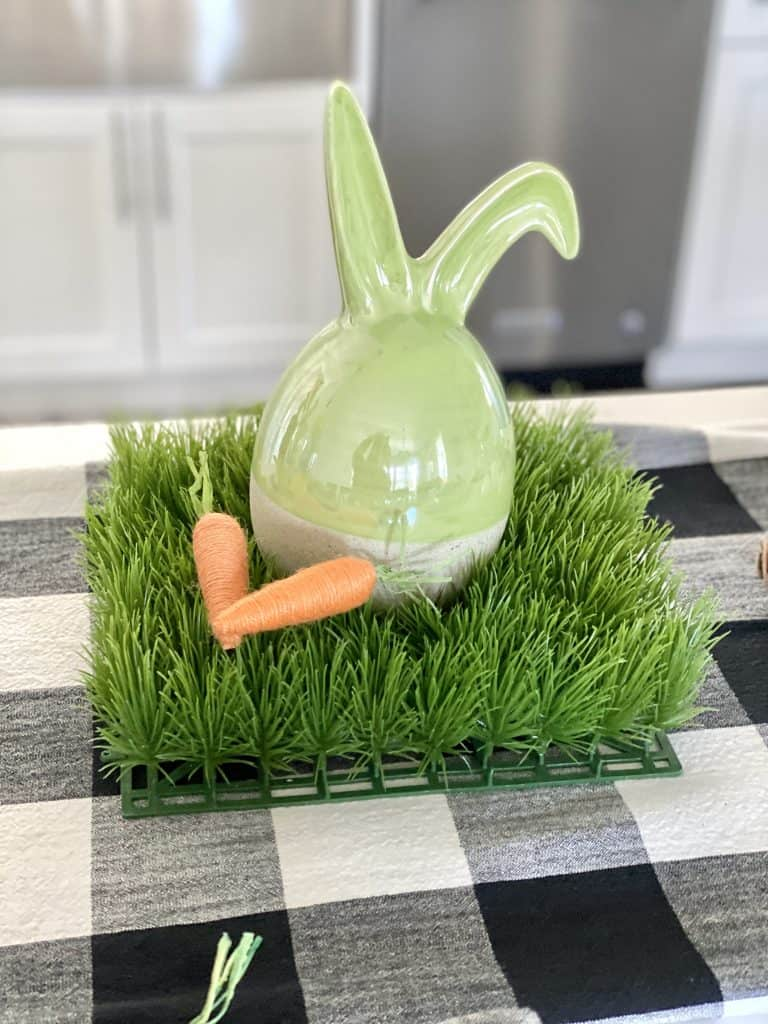 ceramic bunny on grass