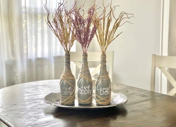 Stunning Upcycled Wine Bottle Decor