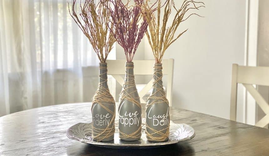 Stunning Upcycled Wine Bottle Decor