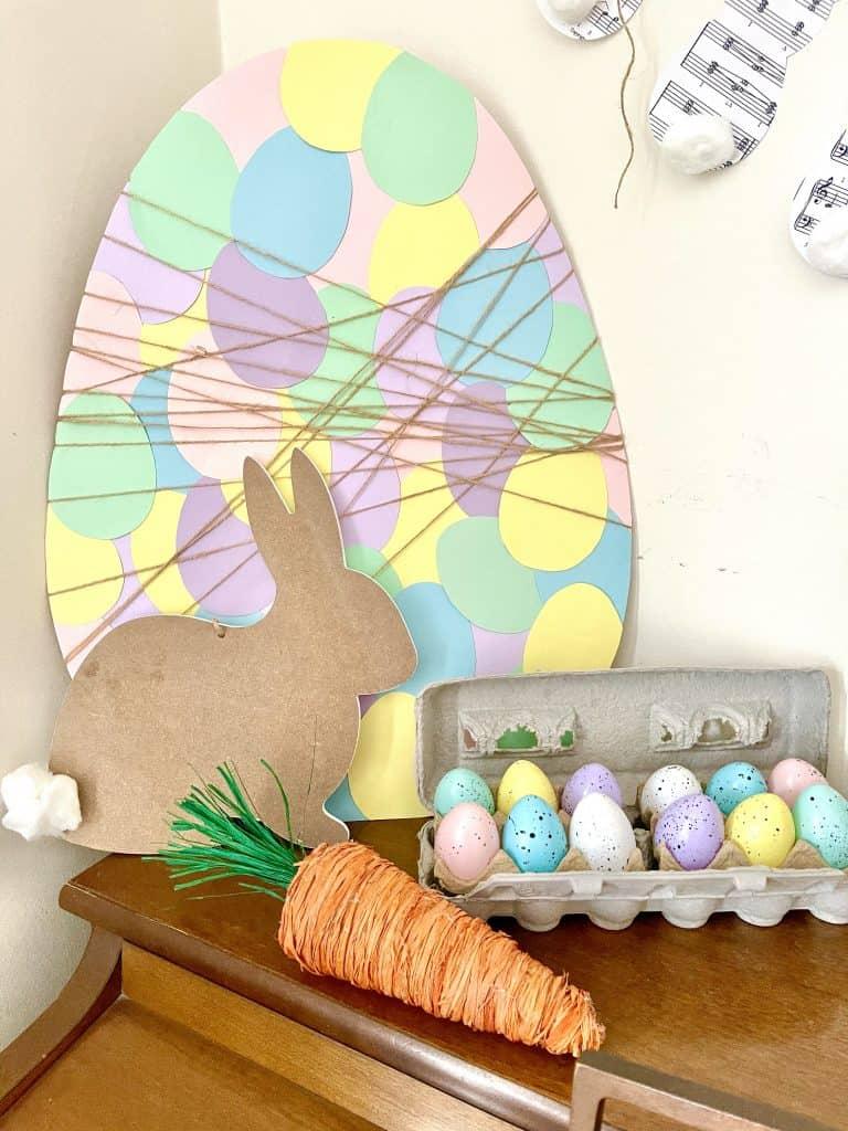 large paper egg