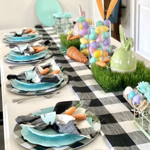 Stunning Buffalo Check Tablescape for Easter