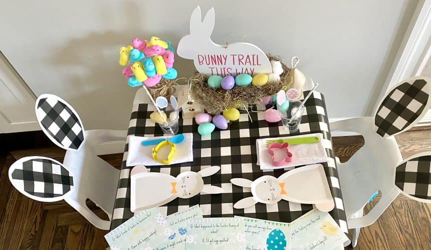 Adorable Easter Kids' Table (with FREE PRINTABLES)