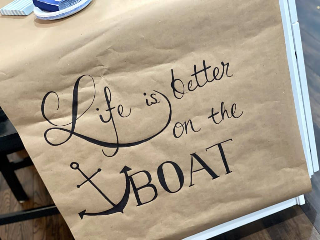 life is better on a boat sign