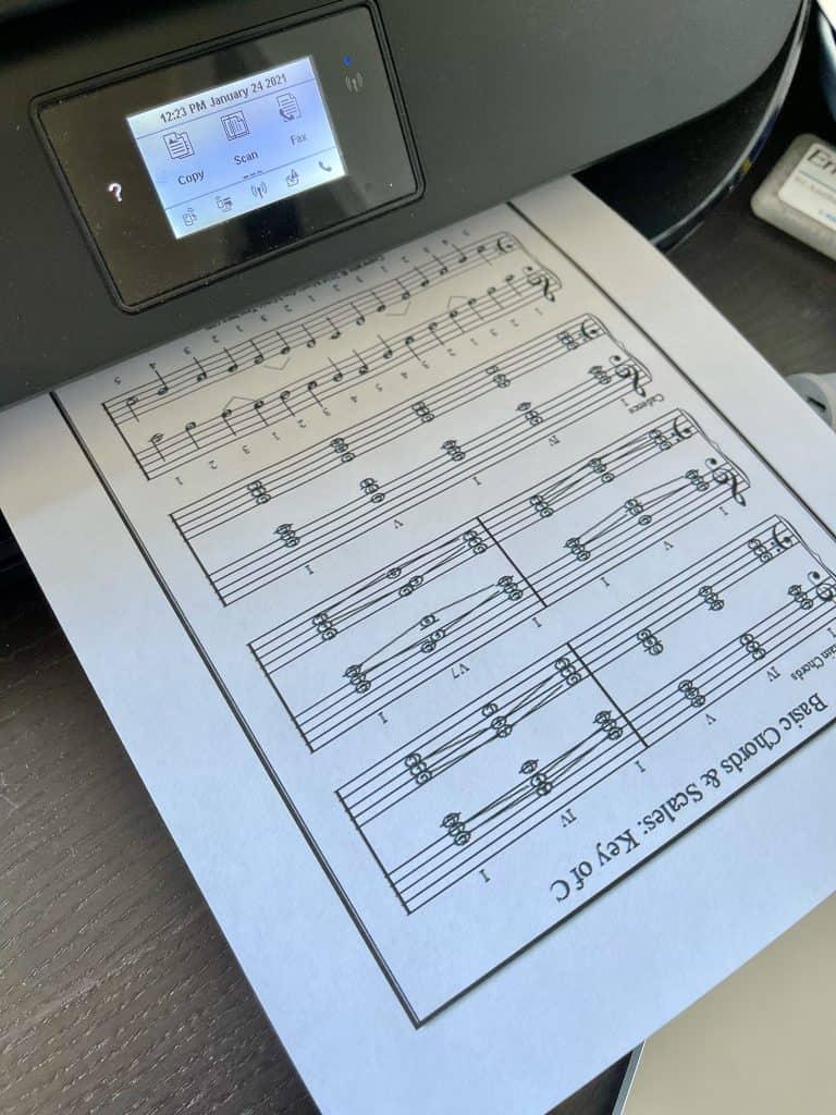 free music printable