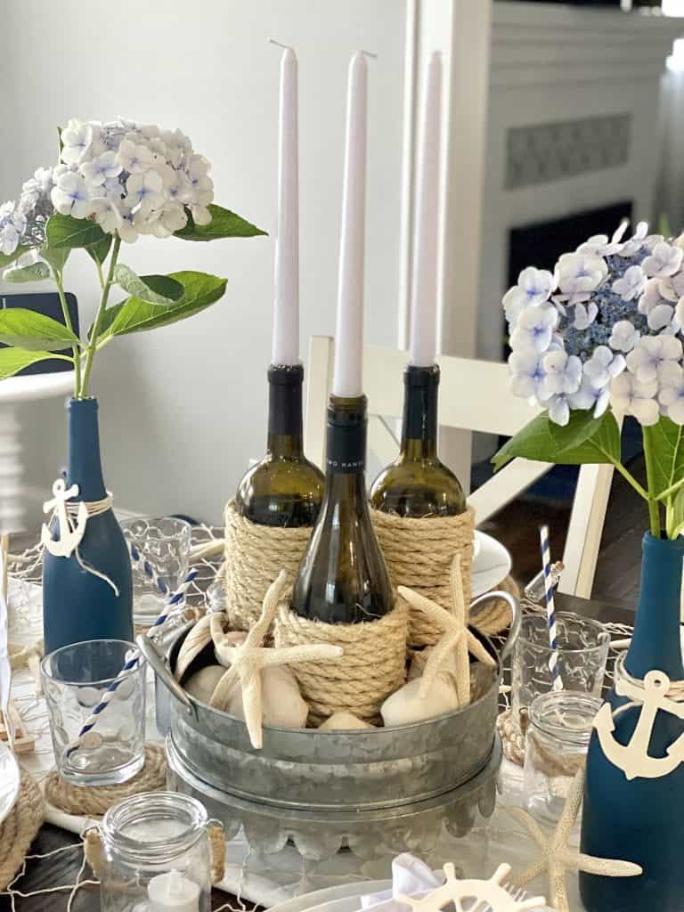 DIY coastal centerpiece