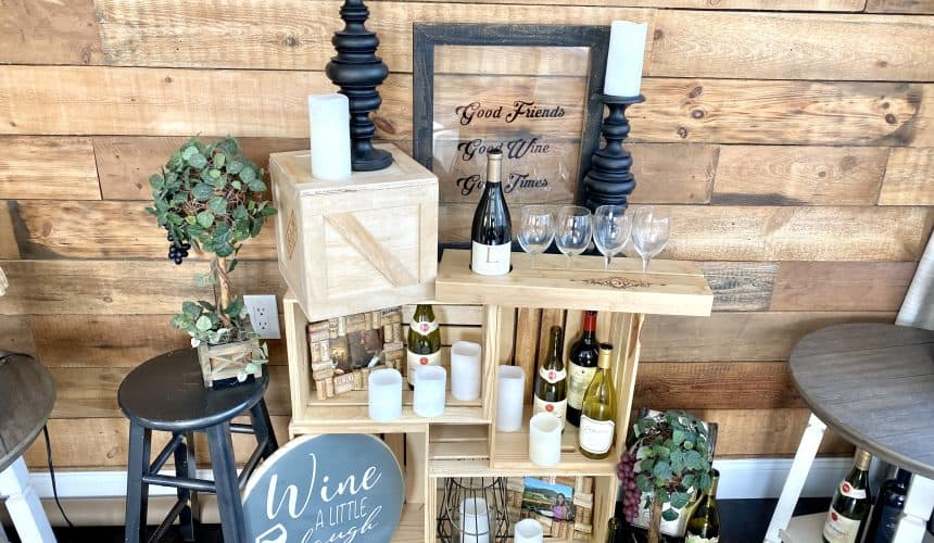 How to Turn Basic Wood Crates Into a Breathtaking Wine Rack