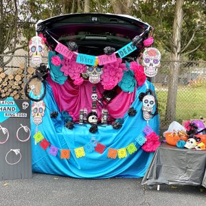 Vibrant Day of the Dead Trunk or Treat (that's not too scary!)